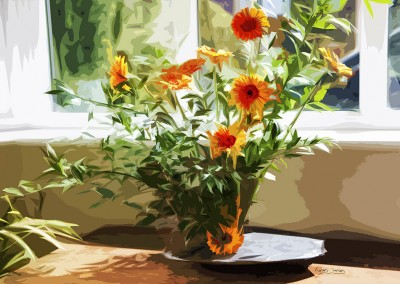 Gerberas in a Vase