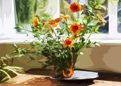 Gerberas dans un Vase